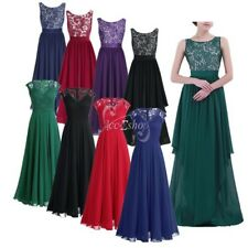 Women Long Formal Wedding Bridesmaid Ball Gown Party Prom Evening Cocktail Dress