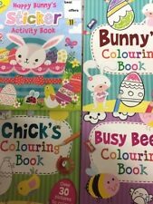 4 DESIGNS EASTER COLORING BOOK CHILD ART CRAFT FUN ACTIVITY BOOKS OVER 30 PICS