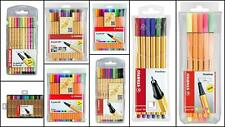 STABILO Stylo 88 Lot Premium pointe en fibre BRILLANT couleurs adulte coloration
