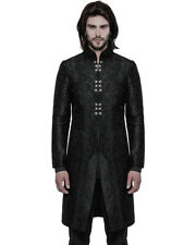 PUNK RAVE Mens gotico cappotto giacca nero broccato Steampunk Regency Aristocrat