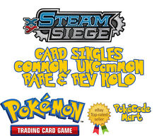 Pokemon XY Steam Siege Cards Selection: Common, Uncommon, Rare + Reverse Holo