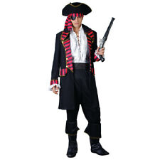 Adult Mens Deluxe Pirate Captain Jack Sparrow Caribbean Fancy Dress Costume 3231