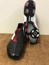 Black White Red Umbro Geometra Pro A FG Firm Ground Football Boots Leather Upper