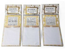Magnetic Memo Note Pad Shopping Make Lists Kitchen Notes Plus Pencil Choice of 3
