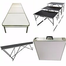 Aluminium Lightweight Height Adjustable Folding Table For Camping BBQ Trade Show