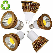 GU10 MR16 gu5.3 E27 E14 Led Regulable COB Bombilla Foco Blanco Lámpara 6w