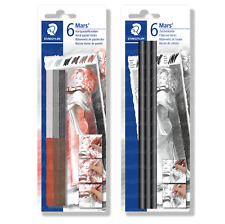 STAEDTLER MARS ARTISTS HARD PASTEL AND CHARCOAL STICKS PACK OF 6