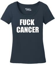 Ladies F*** Cancer Cancer Awareness Shirt Scoop Tee Breast Cancer Beat Cancer
