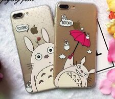 Studio Ghibli Mi vecino Totoro Suave Purpurina Funda iPhone 6/6s 7 8 Plus