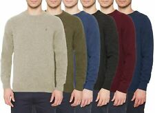 Mens Jumper Farah Lowther Lambswool Crew Neck