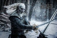 Game of Thrones - White Walker - Film Movie - Poster Druck - Größe 91,5x61 cm