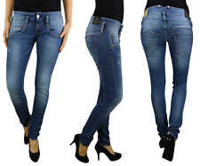 Herrlicher Vaqueros De Mujer Pitch Ajustado 5303 d9666 715 Medio Destruir Denim