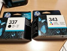 HP 337 & 343 Officejet Original OEM Inkjet Cartridges C9364EE, C8766EE VAT INC