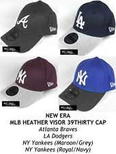 NEW ERA MLB HEATHER VISOR 39THIRTY CAP - ATLANTA BRAVES, LA DODGERS, NY YANKEES