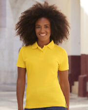 LADIES POLO SHIRT | Fruit of the Loom Lady Fit Piqué Womens Top | 12 COLOURS
