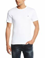 Duck and Cover Mens Plain T-Shirt Cotton Crew Neck White XL 2XL 3XL COLIN