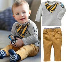 Outfits& Sets 2PCS Kids baby boys Suit tops+ pants  kids Casual Clothing1-6Years