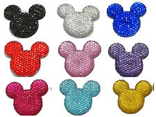 20 Flatback Resin Dotted Rhinestone Gems Mouse Head Cabochons 30mm Color Choice