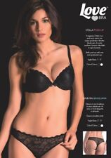 REGGISENO LOVE AND BRA ART STELLA PUSH-UP IN PIZZO CON COPPA GRADUATA E FERRETTO
