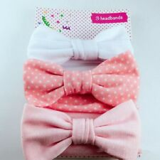 3pcs Newborn Headband Cotton Elastic Baby Print Floral Hair Band Girls Bow-knot