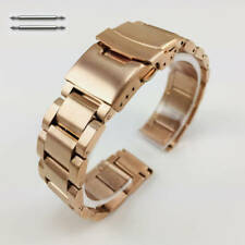 Nixon Watch Replacement Band Rose Gold Steel Metal Strap Double Locking Clasp RG