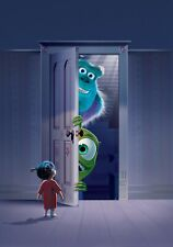 MONSTER'S INC Movie PHOTO Print POSTER Textless Film Art Sully Mike Pixar Boo 02