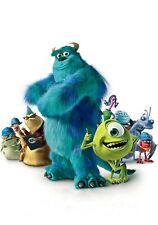 MONSTER'S INC Movie PHOTO Print POSTER Textless Film Art Sully Mike Pixar 003