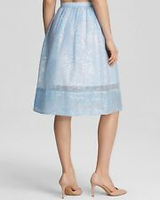 neuf avec étiquette WHISTLES Lorna rayure jupe jacquard COMPLET Coord Bleu UK 6