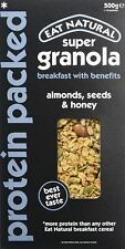 Eat Natural Super Granola Protein Packed: Oats roasted with almonds  seeds an