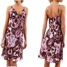 Vestito Donna Abito in Seta SEXY WOMAN W0 B075 Silk Dress Tg S