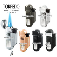 Vector KGM Torpedo Quadruple Jet-Torch Lighter  - All Colors, FAST Free Shipping