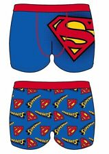 MENS SUPER-MAN Super Hero Boxer Short FATHER`S DAY BLUE Ideal Gift SIZE Small