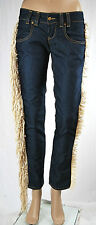 Jeans Donna Pantaloni MET Made in Italy Regular Fit Trousers C455 Tg 27