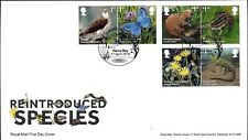 GB FDC 2018 REINTRODUCED SPECIES UNADDRESSED STAMPS AND VERY FINE USED VFU