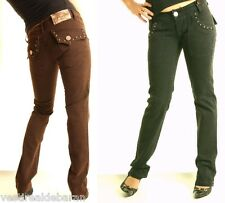 Jeans Donna Pantaloni FLY GIRL 76 A208 Trousers Tg 38 40 42 44 46