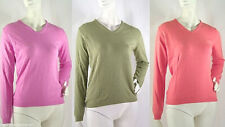 Pullover Maglia Donna CHIC & GLAM Misto Cashmere Made in Italy D063 Tg S   **