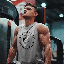 Mens Workout Fitness Athletic Gym T-shirt Tank Tops Undershirts Singlets Tees
