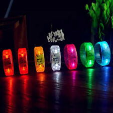 Sound  Activated Voice control LED Bracelet Glow Flashing Wristband Prop