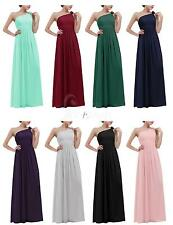 Womens Long Chiffon Long Evening Formal Party Ball Gown Prom Bridesmaid Dress