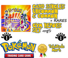 Pokemon Gym Heroes 1st Edition Cards: Commons, uncommons & rares selection