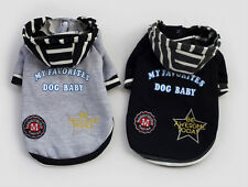 UK SELLER PET CLOTHES OUTFIT FANCY COSTUME FOR SMALL DOG PUPPY HOODIE SWEATER 1f