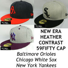 NEW ERA MLB HEATHER CONTRAST 59FIFTY FITTED CAP - ORIOLES/WHITE SOX/NY YANKEES