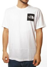 T-shirt The North Face fin tee T-shirt logo blanc blanc homme