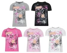 Kids Short Sleeve T Shirt  Made My Day Art Printed Retro Casual Stylish Top 7-13