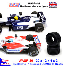 WASP 20 - Urethane Slot Car Tyres - Scalextric grooved F1 rear tyres, 2000's on