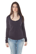 datch t-shirt donna datch donna t-shirt viola datch con scollo tondo e manic… 5