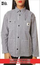 Giacca Carhartt W' Michigan Shirt Jacket righe stripe blue white donna