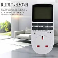 7Day Programmable Digital Electronic Power Timer Switch Socket 240V UK Plug LCD
