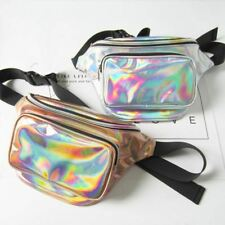 Waterproof Laser Fanny Pack Hip Waist Pack Belt Pouch Women Unisex Waist Belt Ba