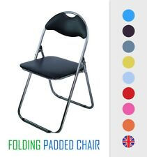 Folding Chair Padded Seat Desk Chairs Foldable Storage Backrest Office Reception